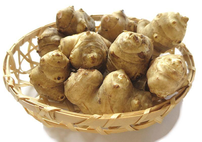 画像1: 無農薬・有機栽培 キクイモ 約2kg (1)