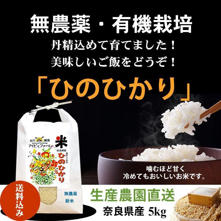 画像1: 新米令和2年度産 無農薬・有機栽培米 ひのひかり 5kg (1)